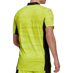 Camiseta adidas Condivo GK 21 - Camiseta de portero de manga corta adidas - amarilla flúor - trasera