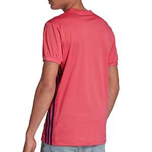 Camiseta adidas 2a Real Madrid 2020 2021 - Camiseta primera equipación adidas Real Madrid 2020 2021 - rosa - trasera