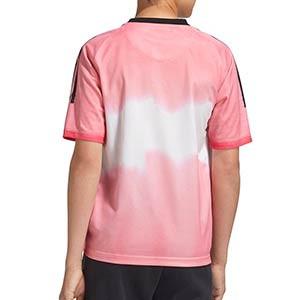Camiseta adidas 4a Juventus 2020 2021 niño Human Race - Camiseta infantil cuarta equipación adidas Juventus 2020 2021 colección Human Race - rosa - trasera