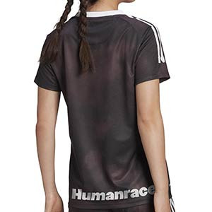 Camiseta adidas 4a R Madrid 2020 2021 mujer Human Race - Camiseta de mujer cuarta equipación adidas Real Madrid 2020 2021 colección Human Race - negra - trasera