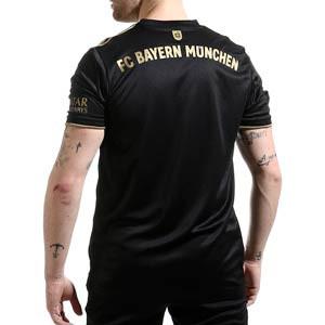 Camiseta adidas 2a Bayern 2021 2022 - Camiseta segunda equipación adidas del Bayern de Múnich 2021 2022 - negra - trasera