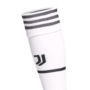 Medias adidas Juventus 2021 2022 - Medias primera equipación adidas de la Juventus 2021 2022 - blancas - trasera