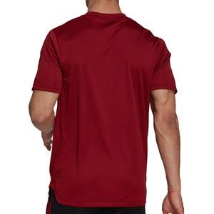 Camiseta adidas Bayern entrenamiento - Camiseta manga corta entrenamiento para entrenadores adidas Bayern de Múnich - roja - trasera
