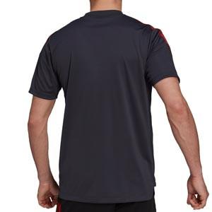 Camiseta adidas Bayern entrenamiento - Camiseta manga corta entrenamiento adidas Bayern de Múnich - negra - trasera