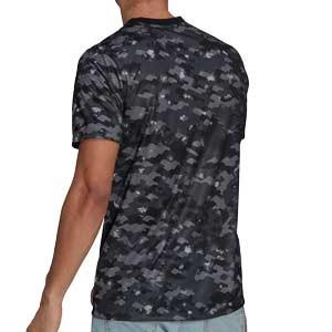 Camiseta adidas Juventus pre-match 2021 2022 - Camiseta de calentamiento adidas Juventus 2021 2022 - gris oscura - trasera