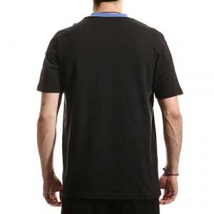 Camiseta algodón adidas Real Madrid entrenamiento - Camiseta manga corta de algodón entrenamiento adidas Real Madrid CF - negra - hover trasera