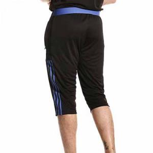 Pantalón 3/4 adidas Real Madrid entrenamiento - Pantalón pirata entrenamiento adidas Real Madrid CF - negro - hover trasera