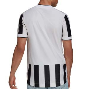 Camiseta adidas Juventus 2021 2022 - Camiseta adidas primera equipación Juventus 2021 2022 - blanca y negra - trasera