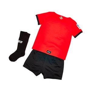 Equipación New Balance Athletic Club niño pequeño 2021 2022 - Conjunto infantil 1-7 años primera equipación New Balance del Athletic Club Bilbao 2021 2022 - rojo y blanco - trasera