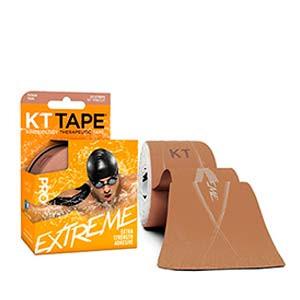 Cinta kinesiológica KT Tape Pro Extreme precortada - Tira muscular kinesiológica KT Tape (5 cm x 5 m) - carne - trasera