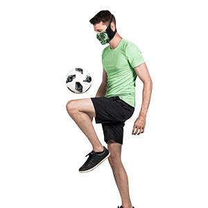 Mascarilla Mc David Sport Face Mask - Máscara facial deportiva reutilizable Mc David - verde y negra - detalle