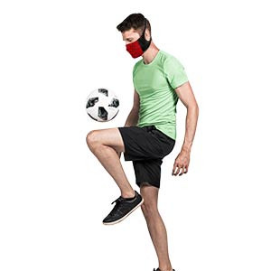 Mascarilla Mc David Sport Face Mask - Máscara facial deportiva reutilizable Mc David - roja y negra - detalle