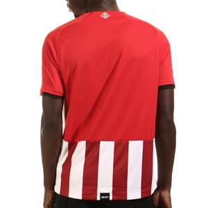 Camiseta New Balance Athletic Club 2021 2022 - Camiseta primera equipación New Balance del Athletic Club de Bilbao 2021 2022 - roja y blanca - trasera