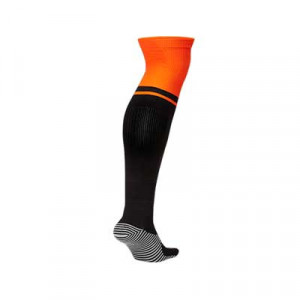 Medias Nike 2a Holanda 2020 2021 Stadium - Medias segunda equipación Nike selección holandesa 2020 2021 - negras y naranjas - trasera
