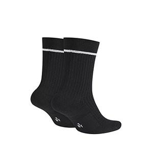 Calcetines media caña Nike Essential Crew pack 2 - Pack de 2 calcetines de media caña Nike - negros - trasera