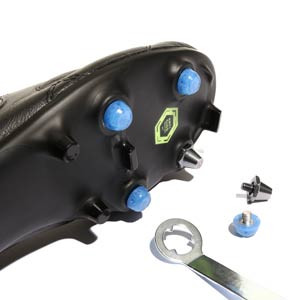 1x taco goma TPU 6mm botas fútbol estándar Studiamonds azul - 1 ud de taco de goma delantero de repuesto para botas Nike, Puma, New Balance,... de 6 mm - azul traslúcido - detalle