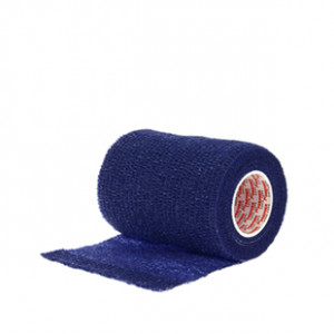 Prowrap 7,5 cm Premier Sock azul marino - Esparadrapo sujeta espinilleras Prowrap (7,5 cm x 4,5 m) - azul marino - lateral