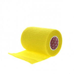Prowrap 7,5 cm Premier Sock amarillo - Esparadrapo sujeta espinilleras Prowrap (7,5 cm x 4,5 m) - amarillo - lateral