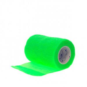 Prowrap 7,5 cm Premier Sock verde - Esparadrapo sujeta espinilleras Prowrap (7,5 cm x 4,5 m) - verde - lateral