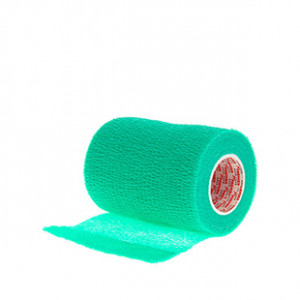 Prowrap 7,5 cm Premier Sock verde turquesa - Esparadrapo sujeta espinilleras Prowrap (7,5 cm x 4,5 m) - verde turquesa - lateral