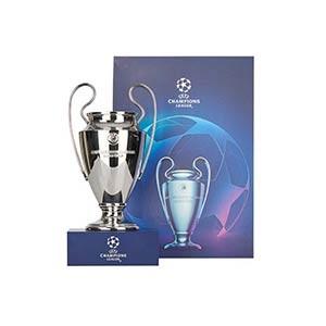 Mini Copa con pedestal Europa League - Figura réplica con pedestal copa Champions League 150 mm - plateada - detalle