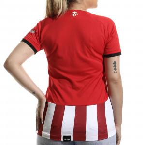 Camiseta New Balance Athletic Club femenino 2021 2022 - Camiseta primera equipación New Balance del Athletic Club de Bilbao femenino 2021 2022 - roja y blanca - trasera