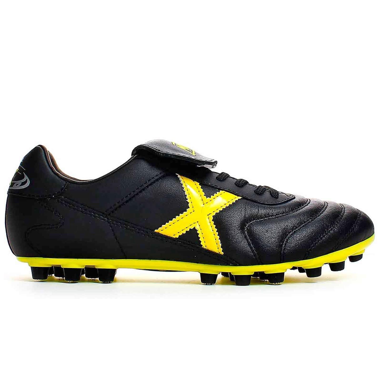 Botas Munich Mundial U25 negro - amarillo  5b6a24060285c