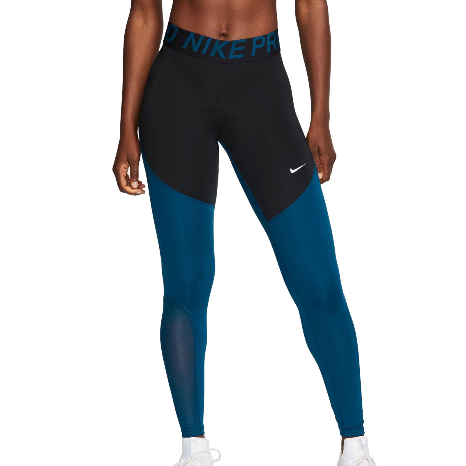 Excepcional peor Cuota de admisión  Mallas largas mujer Nike Pro negra y azul | futbolmania