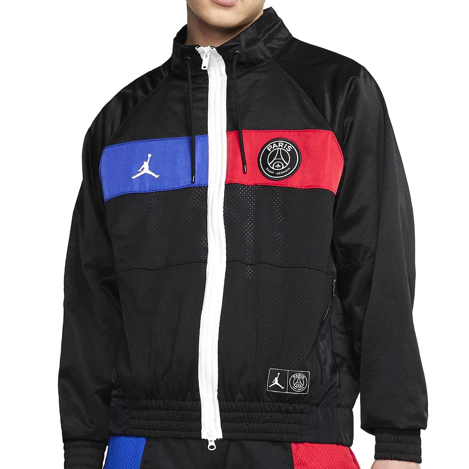 Perfecto Desplazamiento Por adelantado  Chaqueta chándal Nike PSG x Jordan negra | futbolmania