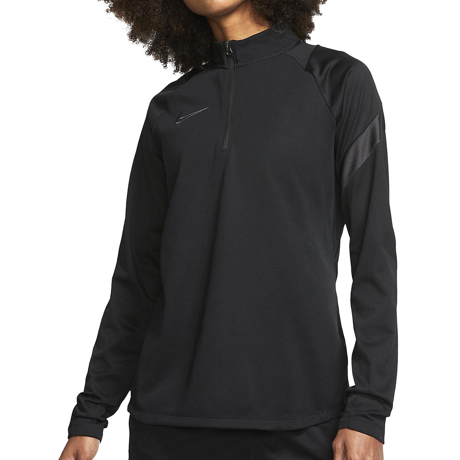 proporcionar Ennegrecer Exponer  Sudadera Nike mujer Dry Academy Pro negra | futbolmania