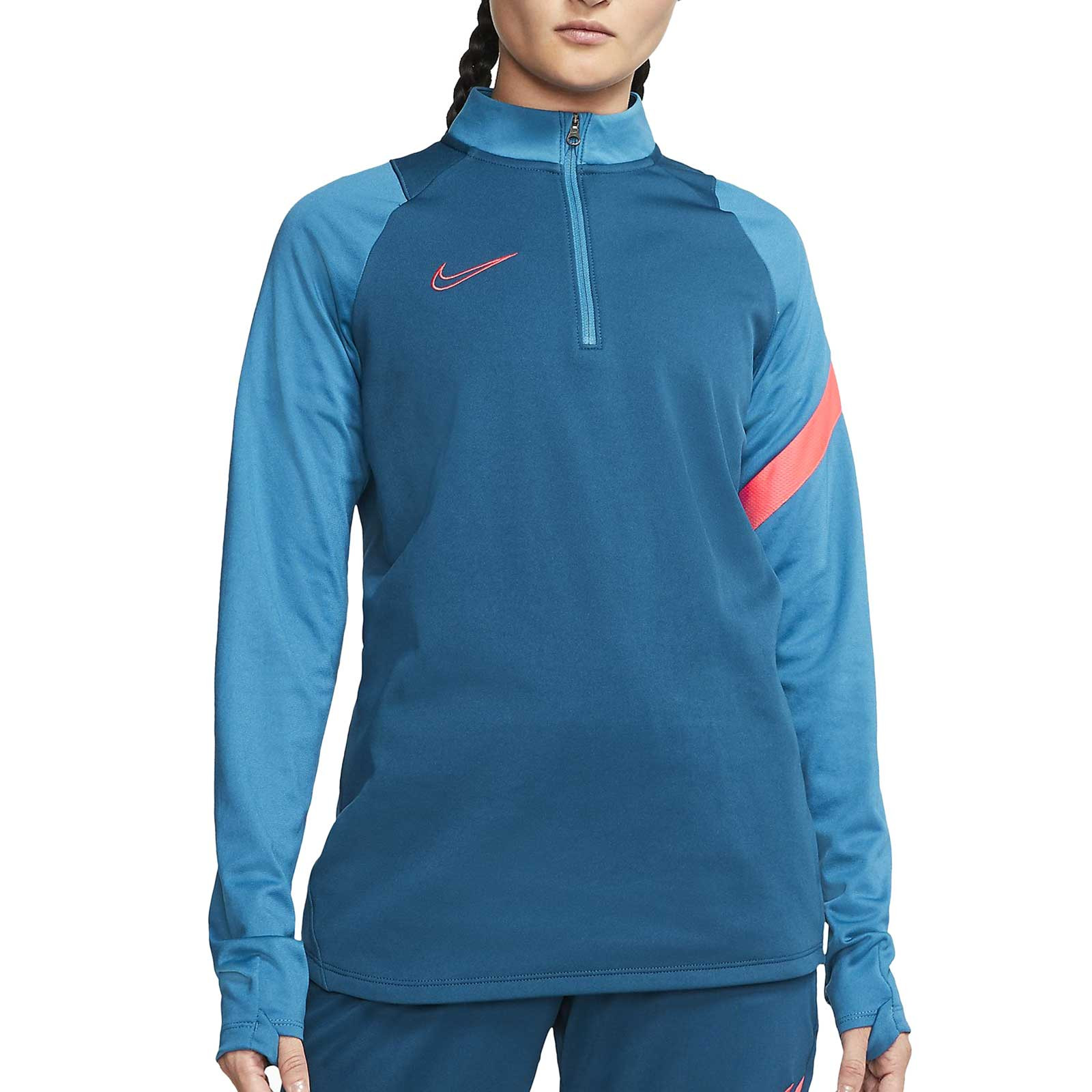 Nylon Leer Patriótico  Sudadera Nike mujer Dry Academy Pro azul | futbolmania