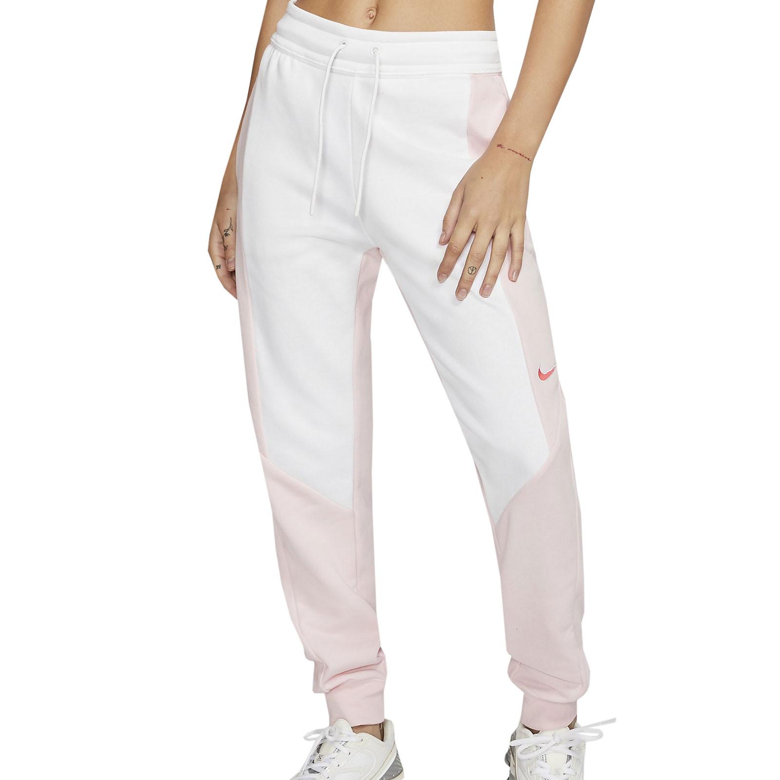 Pantalon Nike Mujer Jogger Blanco Rosa Futbolmania