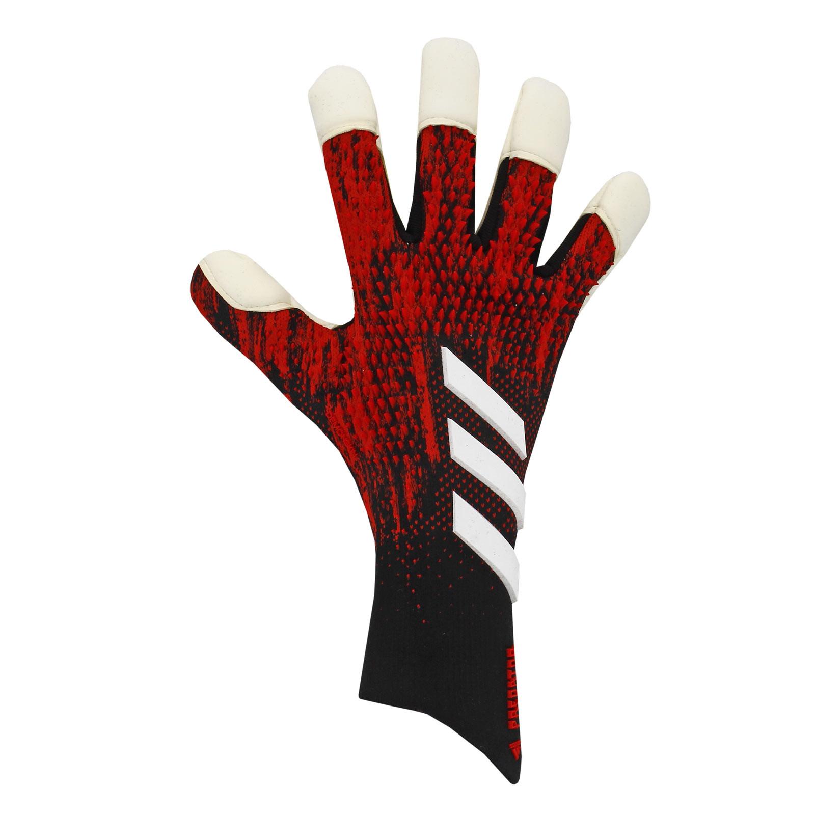 Escudero plan Pero  Guantes adidas Predator Pro Hybrid rojo negro |futbolmania