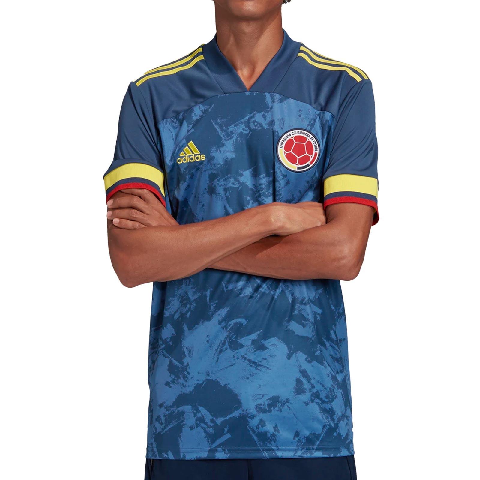 ganador Ewell Gimnasio  Camiseta adidas 2a Colombia 2020 2021 azul marino | futbolmania