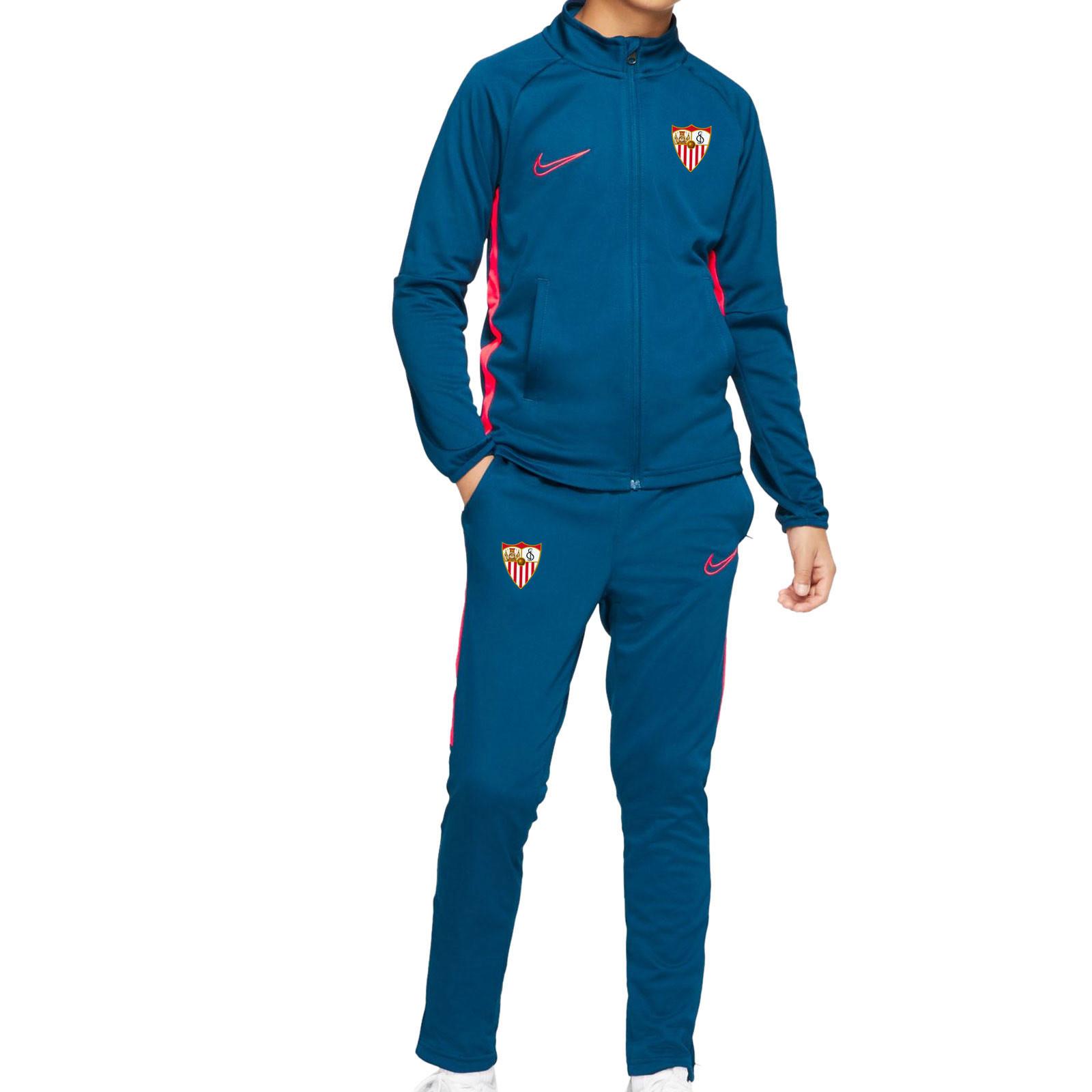 lavar Dinámica Oblongo  Chándal Nike Sevilla niño 2020 2021 | futbolmaniaKids