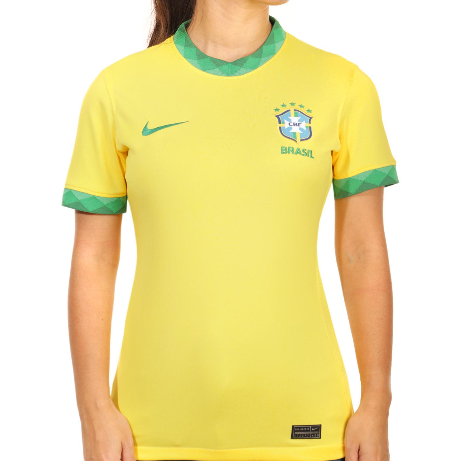 Contra la voluntad Geografía Situación  Camiseta Nike Brasil mujer 2020 Stadium amarilla | futbolmania
