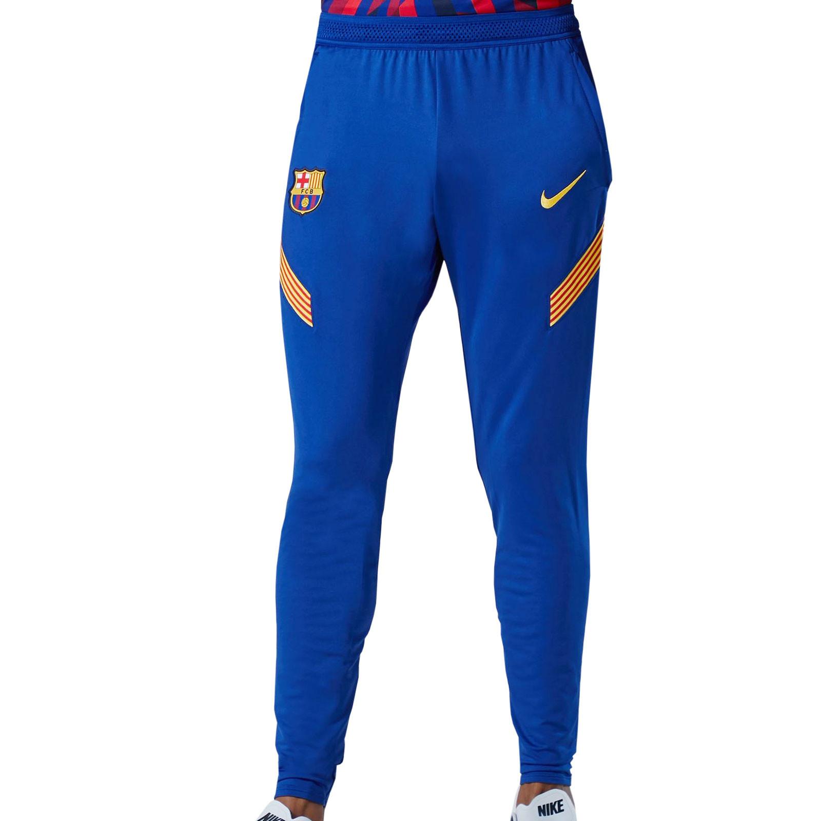 Pantalon Nike Barcelona Entreno 2020 2021 Strike Azul Futbolmania