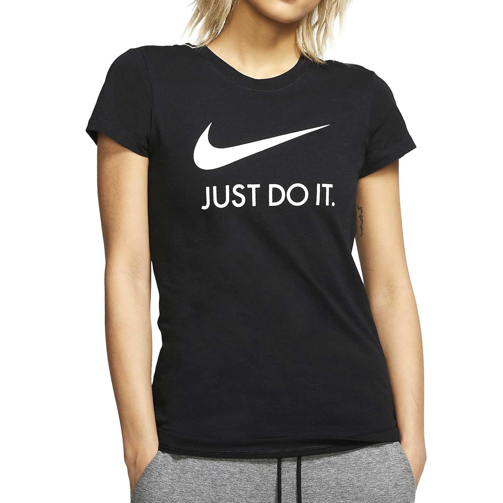 lana tarde manual  Camiseta Nike mujer Just Do It Slim negra | futbolmania