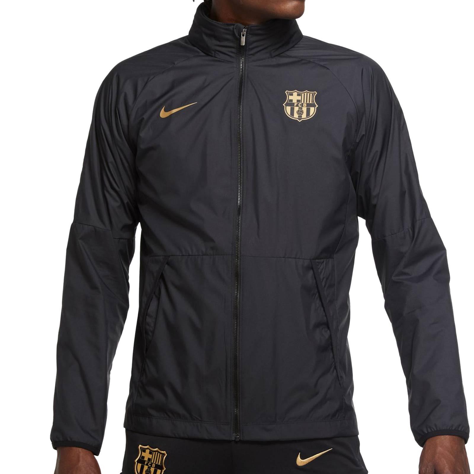 el fin Elección oler  Cortavientos Nike Barcelona All Weather negro   futbolmania