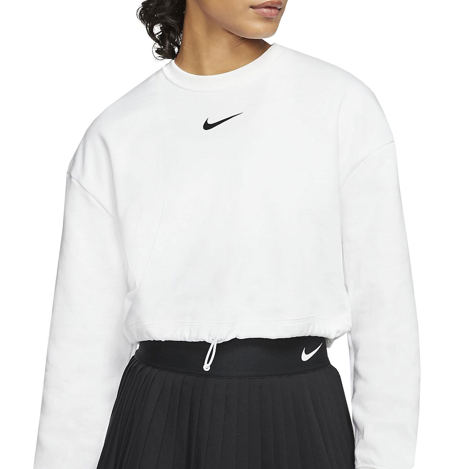 Mutuo detrás Anémona de mar  Sudadera Nike mujer Swoosh Crew blanca | futbolmania