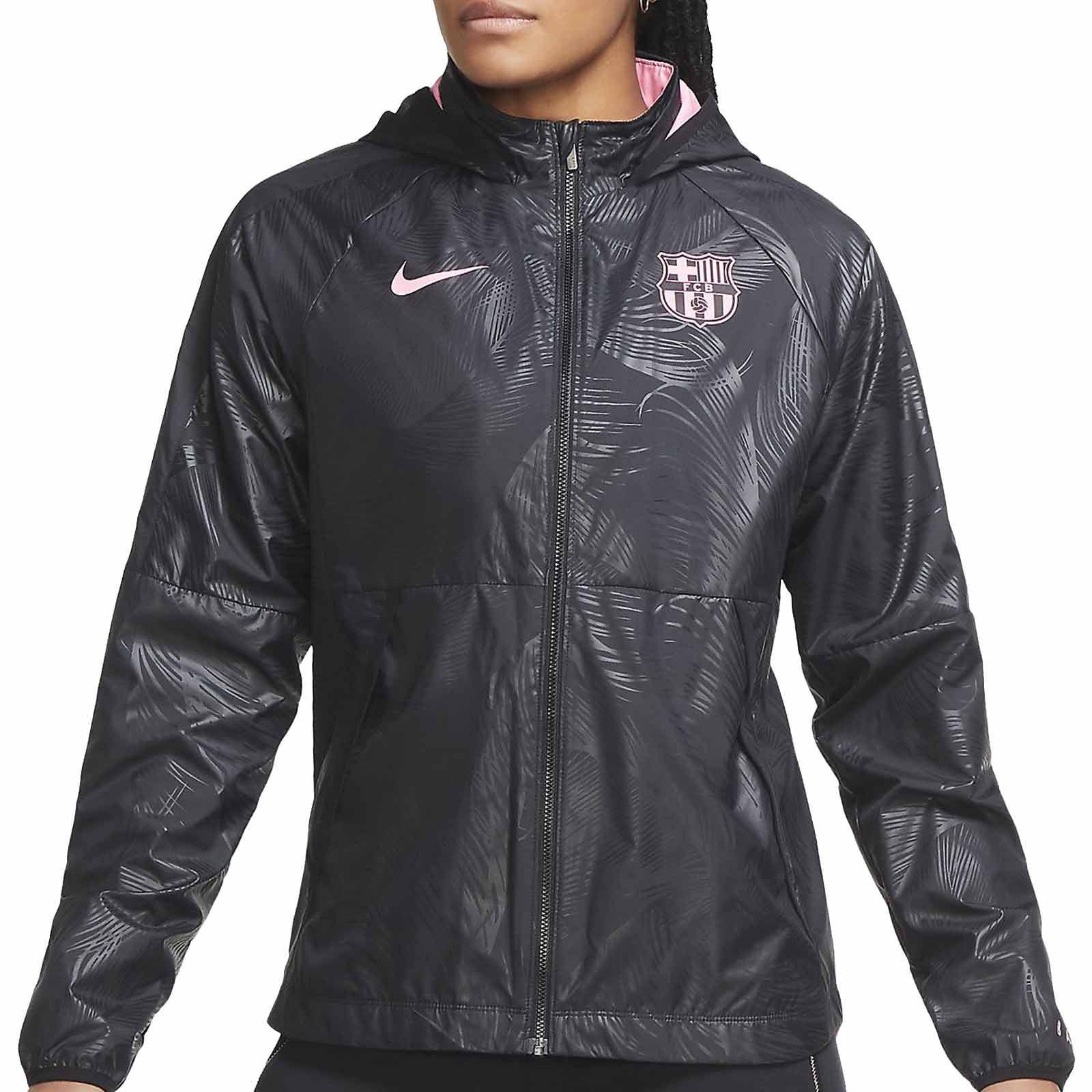 Uganda máquina fondo  Cortavientos Nike Barcelona mujer UCL 2020 2021 All Weather | futbolmania