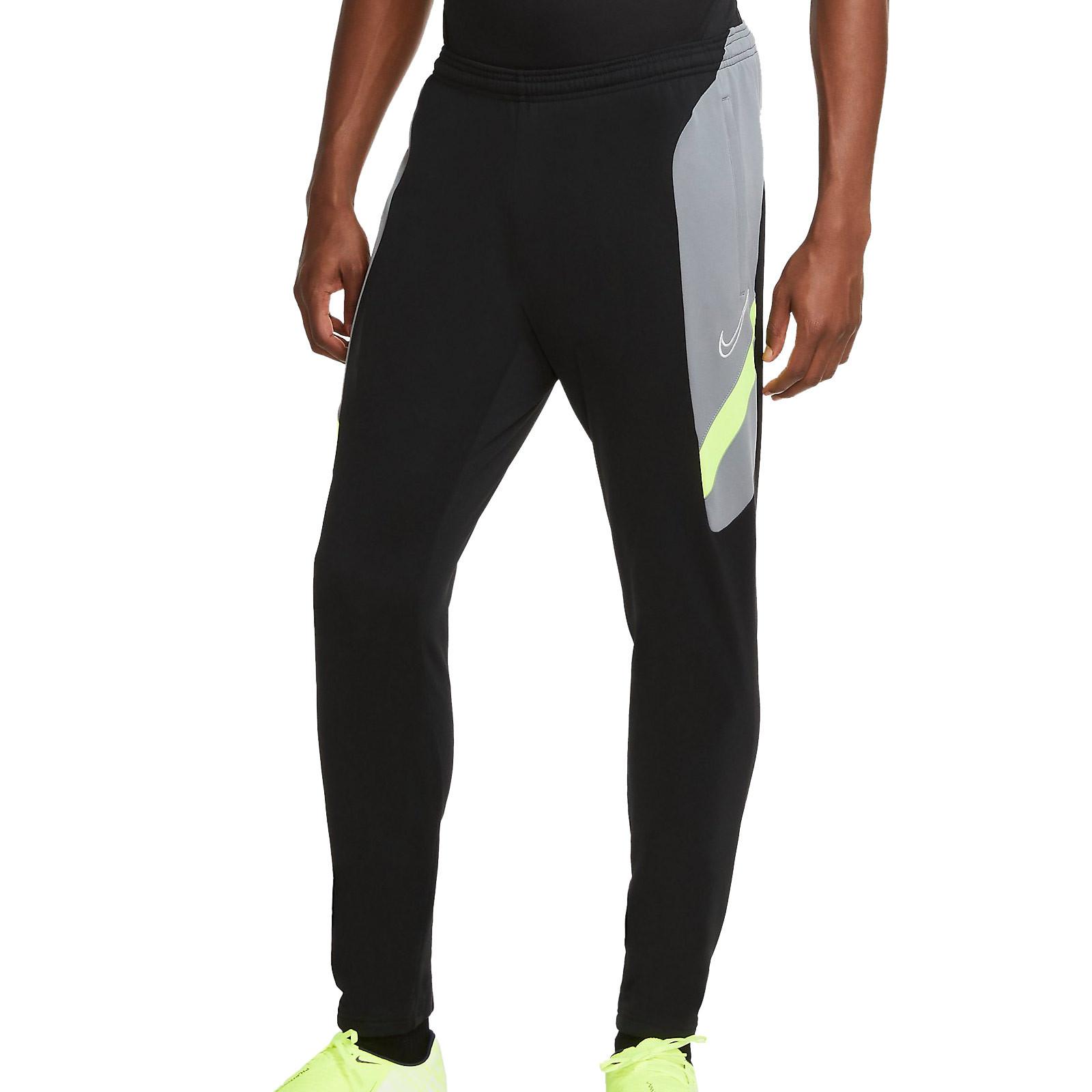 Pantalon Nike Dry Academy Negro Gris Futbolmania