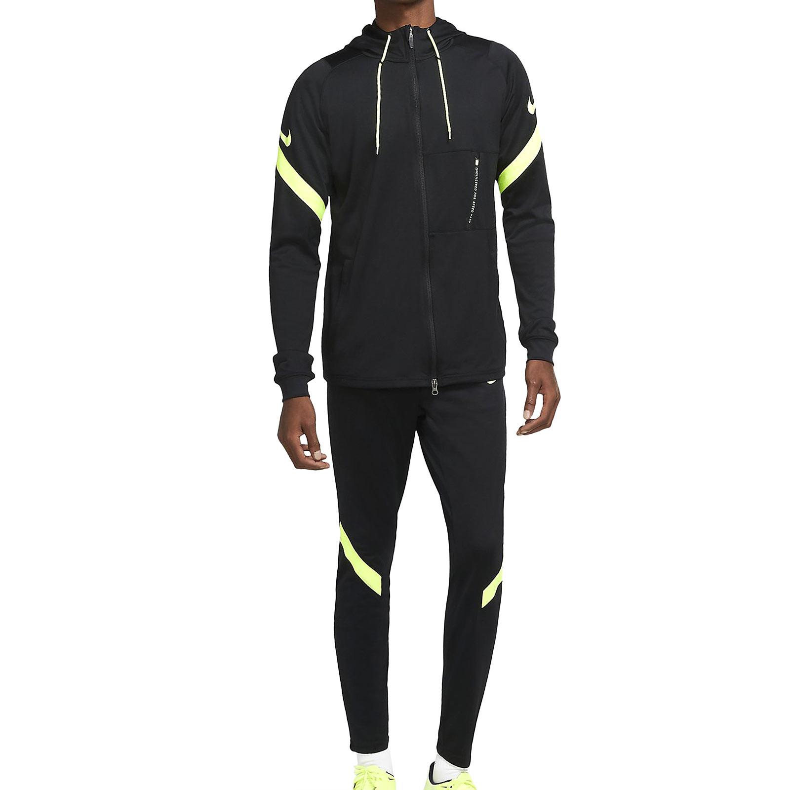 domingo responsabilidad donante  Chándal Nike Dry Strike Hoodie negro y amarillo | futbolmania