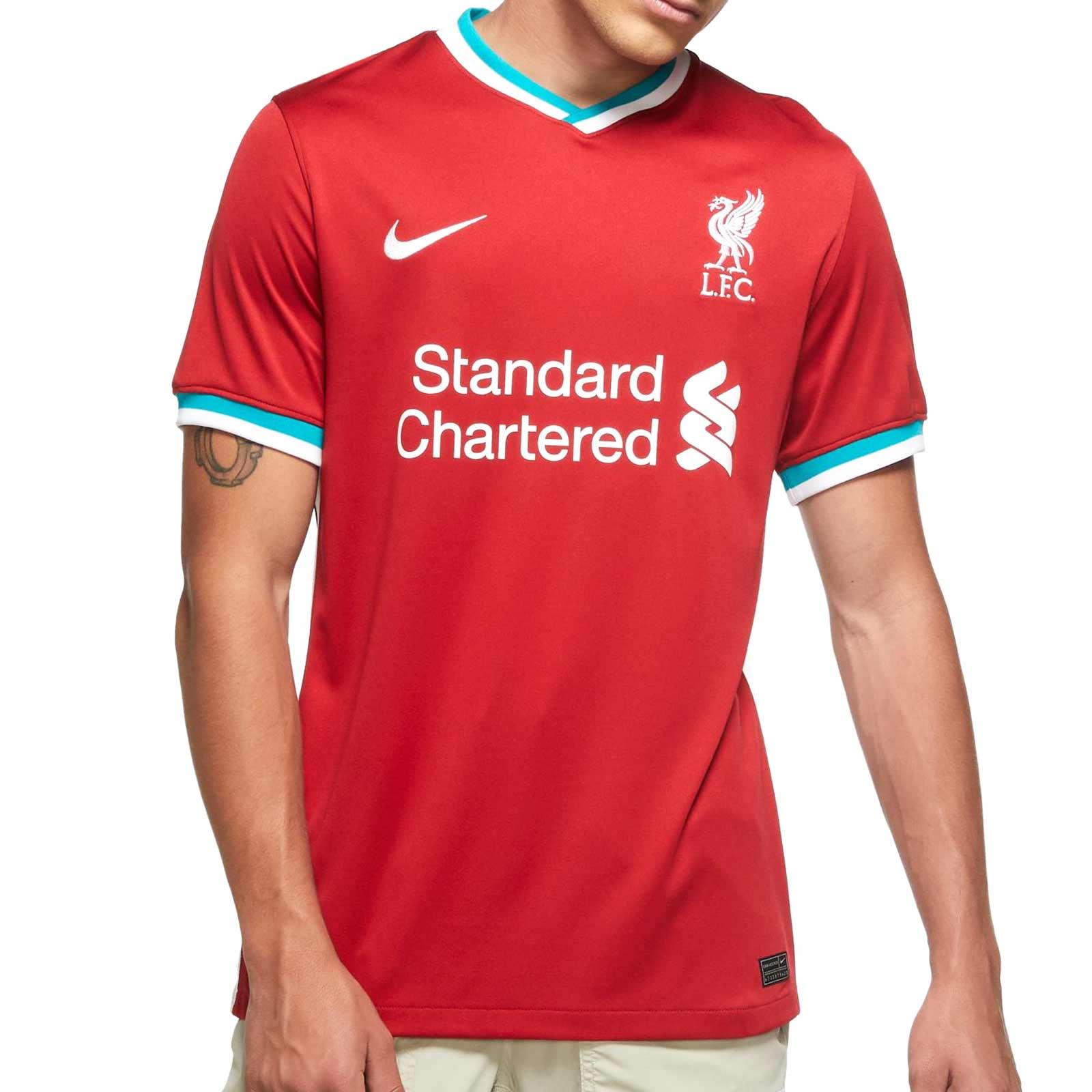 Camiseta Nike Liverpool 2020 2021 Stadium   futbolmania