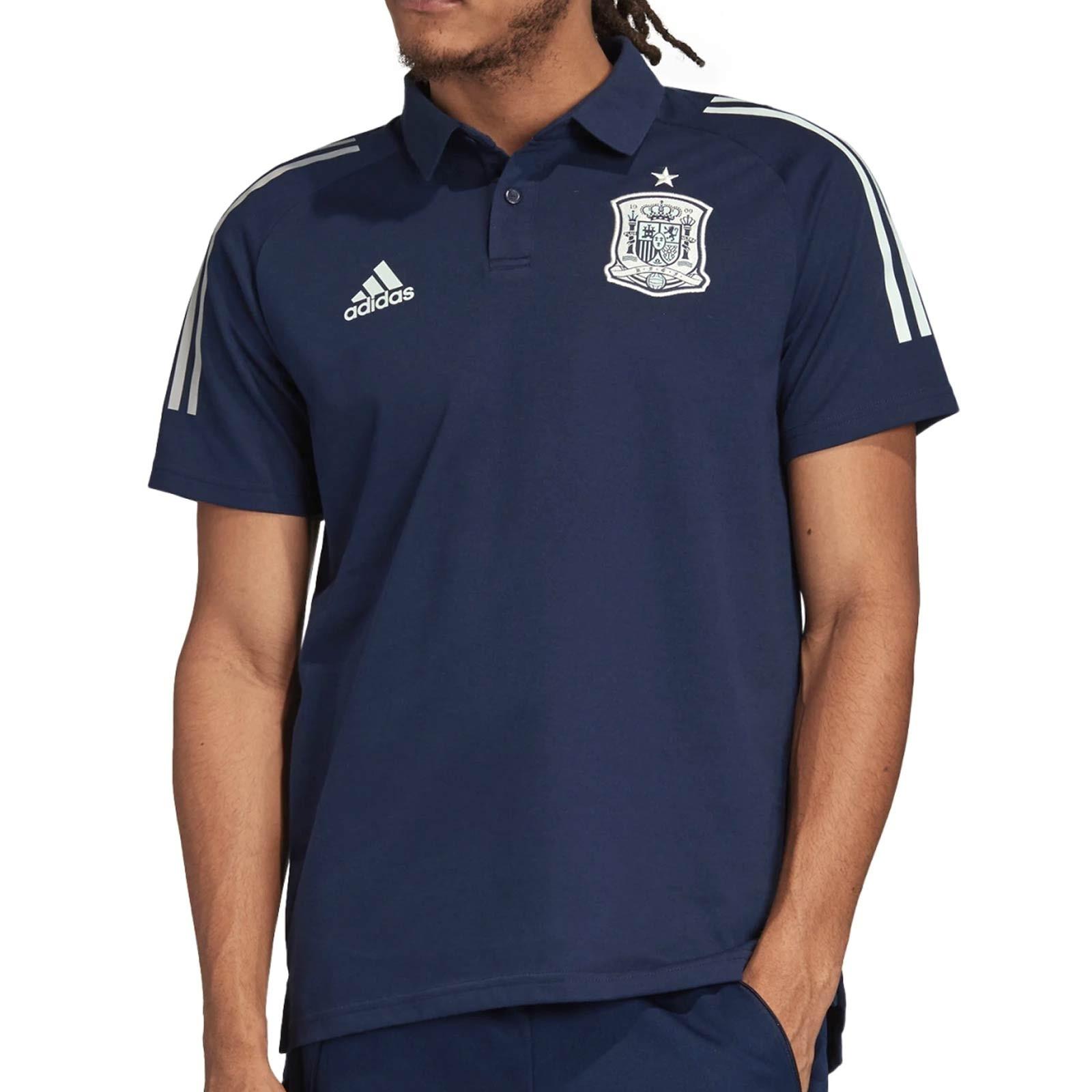 su Colector pavo  Polo adidas España 2020 2021 azul mairno | futbolmania