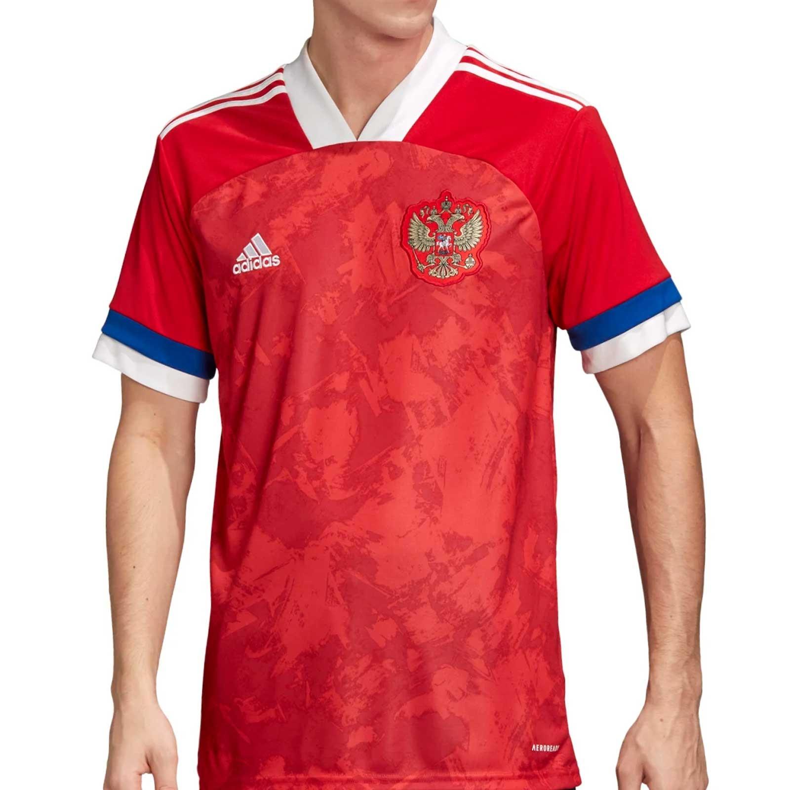 Camiseta Adidas Rusia 2020 2021 Roja Futbolmania