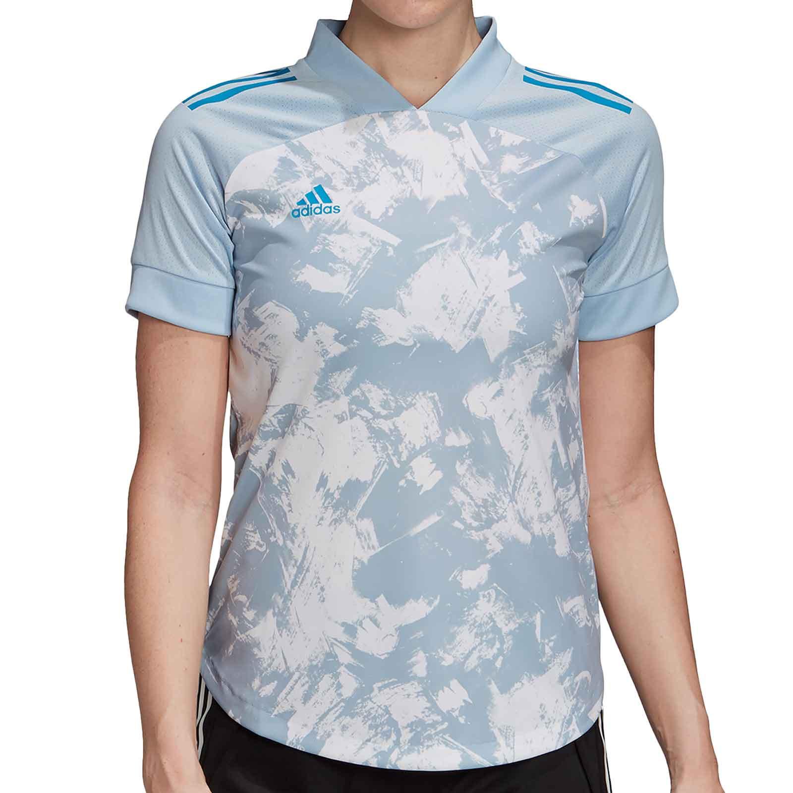 arquitecto Delgado béisbol  Camiseta adidas Condivo 20 mujer azul celeste |futbolmania