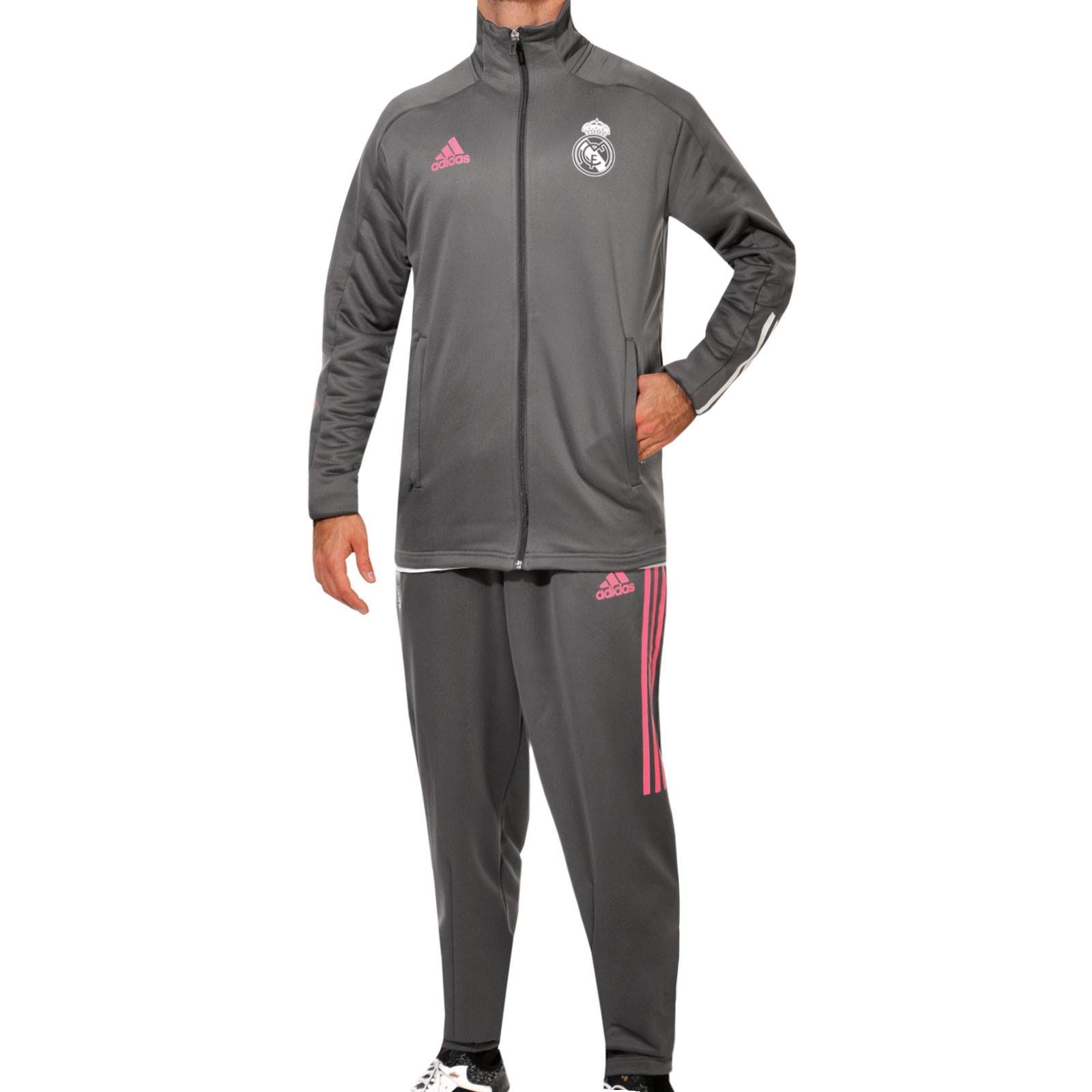 Chándal Adidas Real Madrid 2020 2021 Gris Futbolmania