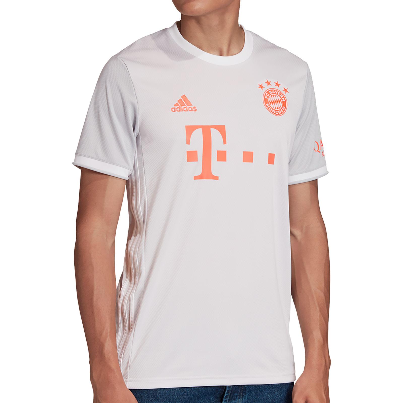 Camiseta adidas 2a Bayern 19 20 blanca | futbolmania