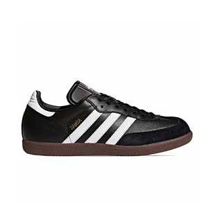 adidas Samba - Zapatillas de fútbol sala de piel adidas suela lisa - Negro - pie derecho